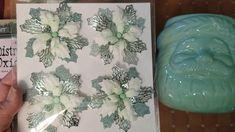 Flower Crafts, Poinsettia, Glass Vase, Shabby Chic, Flowers, Royal Icing Flowers, Flower, Florals, Floral