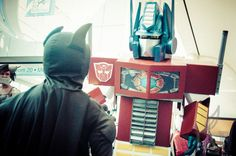 PotD: Batboy Meets Prime - #ComicCon 2013 — Tea Leaf On The Wind Photography - Jeremy Asher Fried  #Batman #Cosplay #Transformers #SanDiegoComicCon #SDCC