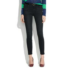 Madewell : High Riser Skinny Skinny Ankle Jeans in Onyx Wash Heard these were great!