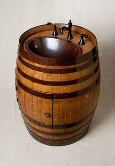 Wine Barrel Sink!!