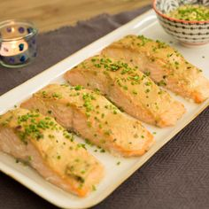 Baked Salmon with Honey Mustard Sauce By Valerie Bertinelli