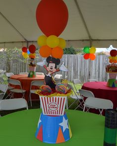 Mickeys circus table decorations