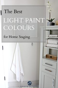 The best light and neutral paint colours for home staging and selling by Kylie M Interiors. E-design and online color consulting Neutral Wall Colors, Top Paint Colors, Light Paint Colors, Paint Colors For Home, House Colors, Best Interior Paint, Interior Paint Colors, Home Interior Design, Interior Trim