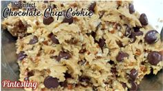 Pintesting Perfect Chocolate Chip Cookie - Cookie Dough