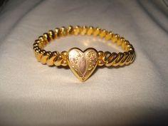 Vintage Childs Adustable Heart Bracelet