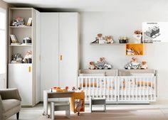 Ambiente 21. Habitación Infantil con Cuna Gemelar Convertible.