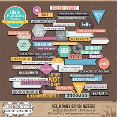 LIP: Hello Daily Grind Jazzers - Peppermint Creative #projectlife #pocketstyle #digiscrap