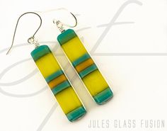 Fused Glass Earrings  Glass Jewelry  Warm by JulesGlassFusion, $37.00