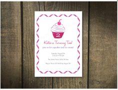 Custom Cupcake Birthday Invitation by HairballDesigns on Etsy, $40.00