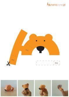 Miś-pacynka do wydruku  #Printable #DoDruku  http://www.mamazone.pl/kolorowanki/2014/mis-pacynka-do-wydruku.aspx