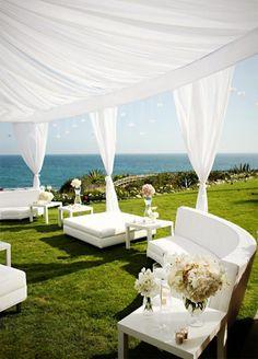 White Wedding at Montage Laguna Beach by Jasmine Star – Outdoor Wedding Wedding Decor, Wedding Lounge, Beach Wedding Reception, Wedding Events, Dream Wedding, Beach Weddings, Wedding Ideas, Perfect Wedding, Wedding Photos
