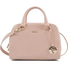 c7b2ee0fe22baf Furla Dolly S bag found on Polyvore Studded Handbags, Studded Purse, Pink  Handbags,