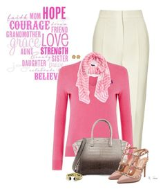 """""""I wear PINK"""" by ksims-1 ❤ liked on Polyvore featuring Vika Gazinskaya, Polo Ralph Lauren, Marc by Marc Jacobs, VBH, Valentino and David Yurman"""