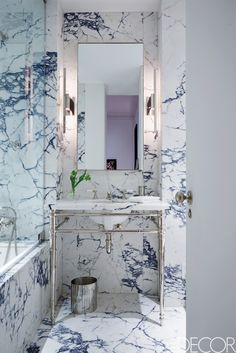 Bathroom:Foxy Black And White Bathroom Decor Design Ideas Bathrooms With Grey Floors Pictures Cottage Elegant Small Wood Designs Photos Gray All Dark Cabinets Contemporary Marble Classic Off white bathrooms Elle Decor, Best Bathroom Designs, Bathroom Ideas, Bathroom Hacks, Bathroom Pictures, Bathroom Remodeling, New York City Apartment, Manhattan Apartment, Beautiful Bathrooms