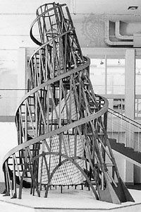 Tatlin's Tower, as seen in the Pompidou Centre in Metz, France