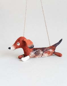 Cute dog, Dachshund, Sausage Dog, Art Toy, Puppet, Felt Dog, Marionette, Stuffed Animal, Felted Toy. ---------------------- *******This item is MADE TO ORDER. Please allow 2-3 weeks to complete your order( I am currently overwhelmed with orders ) + additional time for shipping (2-4