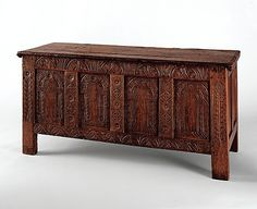 Chest  Date: 1650–80   Geography: New England, New Haven, Connecticut, United States   Culture: American   Medium: Red oak, white oak