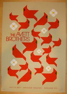 Concert Posters, The Avett Brothers | Jojo's Posters | JoJo's Posters