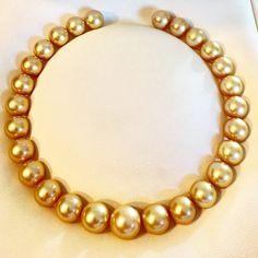 Golden south sea necklace, Gem Quality 15/18,3mm