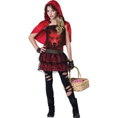 Girls Red in the Hood Costume | BuyCostumes.com
