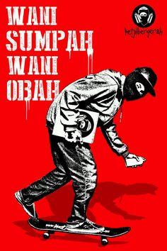 WANI SUMPAH, WANI OBAH! Selamat Hari Sumpah Pemuda! #stencilart #poster
