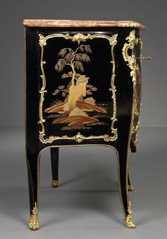 French Louis XV Lacquer Commode. Period ca. 1745.