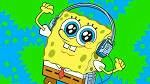 Rock that sponge headphones on wow it works under water wow he probably listening to the goofy goober theme song