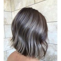 Luscious Balayage With Subtle Purple Tones - 20 Stunning Examples of Mushroom Brown Hair Color - The Trending Hairstyle Ombre Blond, Ombre Hair Color, Hair Colour, Short Ombre, Colour Colour, Ash Brown Hair, Brown Hair Colors, Brown Hair With Highlights, Balayage Highlights
