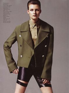 Vogue Paris August 2010 - The Vogue Paris August 2010 editorial has model Malgosia Bela all decked out in military ensembles. However, in true Vogue manner, the stylist for ...