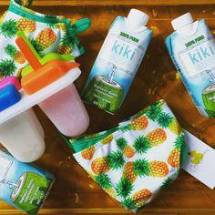 KiKi acqua di cocco, CrisBerry bikini and fruit and coconut water popsicles