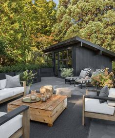 Chic midcentury modern renovation surrounded by woods in Seattle