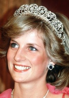The Spencer Tiara Used by Lady Diana Spencer on the day of her wedding to Prince Charles in 1981, the Spencer Tiara is made of gold and entirely covered in diamonds. Thought to be a Spencer family heirloom, the tiara has gone through many changes since its first recorded appearance in 1875, when a single element of the tiara was left to Lady Sarah Spencer. Since then, the tiara has been remounted and four other elements added to it, creating what we now know as the Spencer Tiara today.