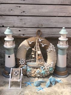 Seashell Wreath, Seashell Crafts, Beach Crafts, Rope Crafts, Wooden Crafts, Diy And Crafts, Sailor Baby Showers, Deco Marine, Driftwood Wall Art