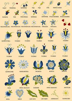 Folk art flowers of