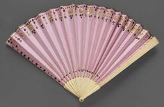 Fan. American, made in England or Continental Europe, early 19th century. Paper, ivory, sequins - in the Museum of Fine Arts Boston.
