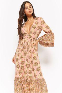Vero Moda Floral Button-Front Maxi Dress | Forever21