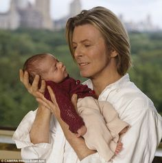 Bowie moved to New York in 1993, a year after he married the Somali-born supermodel Iman and in 2000 they had a daughter, Alexandria, also known as Lexi (pictured as a baby)
