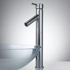 Leta Single-Hole Vessel Faucet with Pop-Up Drain - Bathroom