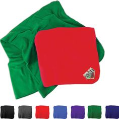 "This stadium blanket is ideal for taking with you to sporting events and on picnics. Constructed out of 180gsm fleece, it is designed to keep you warm and comfortable no matter where you are. Great for use at both home and away games. Bring this blanket on the road and use it to support your team wherever you go! Measures 50""W x 60""H in dimension and includes a 3"" x 3"" imprint area for customizing with your team mascot or company name."