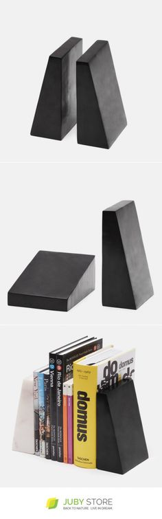 Tenfold New York Soapstone Bookend Set - Juby Store - minimalist, minimal design, natural material, modern design
