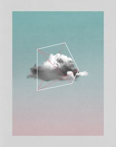 cloud storage, Art Print, cloud art print, modern wall art, geometric minimalist art print, light pink, scandinavian art, contemporary wall art print