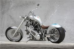 Lucky 7 - Chopper Powered By 7 Cylinder Rotec Radial Engine! Rotec is an Australian company widely known for making airplane engines, but they also make Harley Davidson Motorcycles, Custom Motorcycles, Radial Engine, Lucky 7, Motorcycle Engine, Hot Bikes, Bobber, Custom Cars, Cool Cars