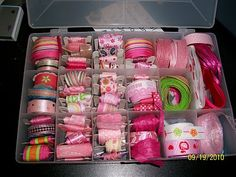 Organize your ribbons #craftroom #ribbons #organizing