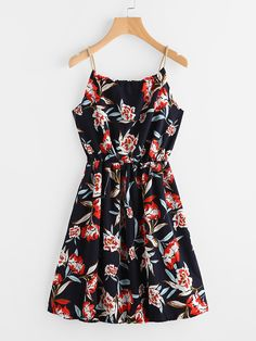 Shop Floral Print Random Self Tie Cami Dress online. SheIn offers Floral Print Random Self Tie Cami Dress & more to fit your fashionable needs.