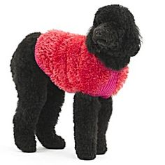 Free Knitting Pattern 30240 Knit Dog Fur Coat : Lion Brand Yarn Company