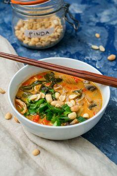 New Recipes, Soup Recipes, Healthy Recipes, Curry Ramen, Oriental Food, Ramen Noodles, Thai Red Curry, Good Food
