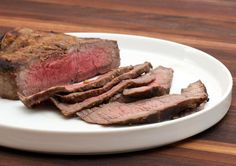 Top round steak is marinated then broiled in the oven. Plan to make this marinade about 6 to 12 hours in advance so the steak will have plenty of time to marinate.