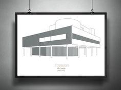Archiposters Feature Minimalist Representations of Contemporary Architecture,Villa Savoye / Le Corbusier, 1931. Image © Francesco Ravasio