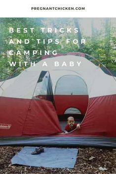 Genius hacks and tips for how to go camping with a baby. Whether you're in a tent, camper or RV, here are the best ideas for what to bring - including packing list and checklist. Camping With Toddlers, Camping With A Baby, Best Tents For Camping, Camping Hacks, Camping Ideas, Baby Shower Activities, Infant Activities, Baby Schedule, Tent Campers