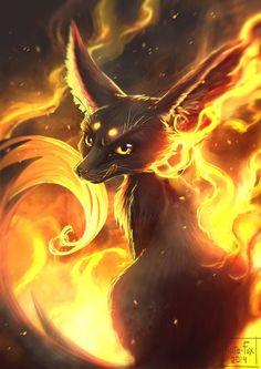 Fire fennec by Kate-FoX